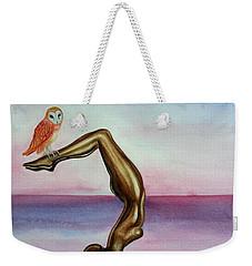 Honoring Owl Weekender Tote Bag by Steed Edwards