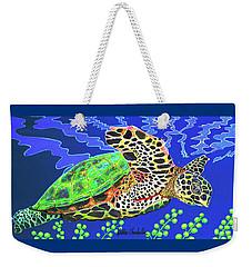 Honu Weekender Tote Bag by Debbie Chamberlin