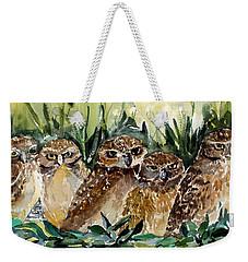 Hoo Is Looking At Me? Weekender Tote Bag by Mindy Newman