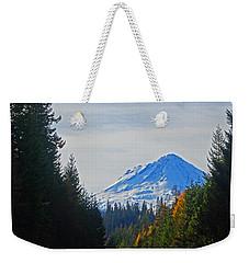 Hood In Autumn Weekender Tote Bag