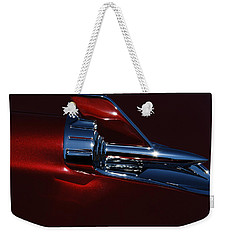 1957 Chevy Belair Hood Rocket Abstract Weekender Tote Bag by Jani Freimann