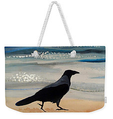 Hooded Crow At The Black Sea By Dora Hathazi Mendes Weekender Tote Bag