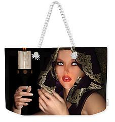 Hooded Girl Weekender Tote Bag