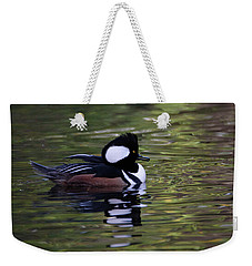 Hooded Merganser Duck Weekender Tote Bag