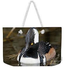 Hooded Merganser Hanging Out Weekender Tote Bag