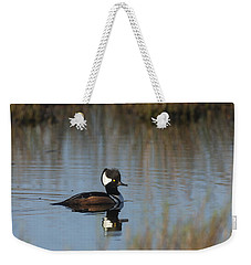 Hooded Merganser In The Early Morning Light Weekender Tote Bag