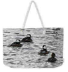 Hooded Mergansers Weekender Tote Bag