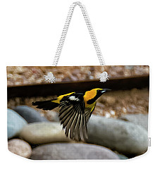 Weekender Tote Bag featuring the photograph Hooded Oriole H37 by Mark Myhaver
