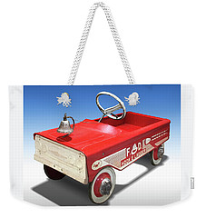 Weekender Tote Bag featuring the photograph Hook And Ladder Peddle Car by Mike McGlothlen