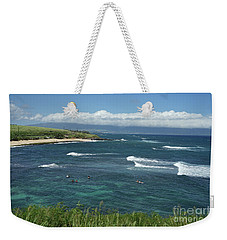 Ho'okipa Beach View From Ho'okipa Beach Park Hana Maui Weekender Tote Bag