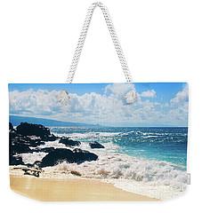 Weekender Tote Bag featuring the photograph Hookipa Beach Maui Hawaii by Sharon Mau