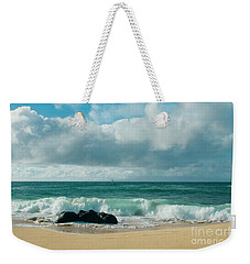 Weekender Tote Bag featuring the photograph Hookipa Beach Pacific Ocean Waves Maui Hawaii by Sharon Mau