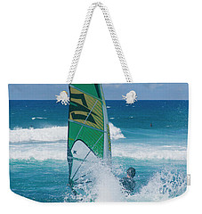Weekender Tote Bag featuring the photograph Hookipa Windsurfing North Shore Maui Hawaii by Sharon Mau