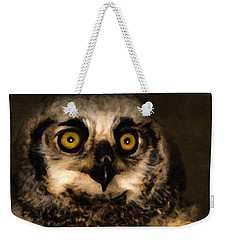 Hooty Weekender Tote Bag by Adam Olsen