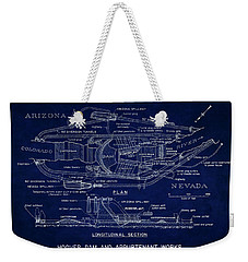 Hoover Dam Blueprint  1935 Weekender Tote Bag