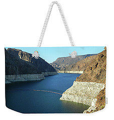 Weekender Tote Bag featuring the photograph Hoover Dam In May by Emmy Marie Vickers