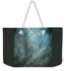 Weekender Tote Bag featuring the digital art Hope Is The Thing With Feathers by Nicole Wilde