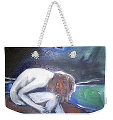 Weekender Tote Bag featuring the painting Hope  by Winsome Gunning