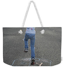 Weekender Tote Bag featuring the photograph Hopscotch Queen by Richard Bryce and Family