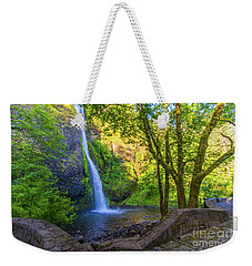 Weekender Tote Bag featuring the photograph Horesetail Falls by Jonny D