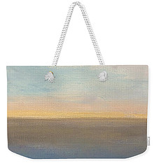 Weekender Tote Bag featuring the painting Horizon Aglow by Kim Nelson