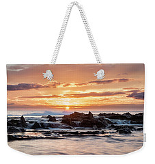 Weekender Tote Bag featuring the photograph Horizon In Paradise by Heather Applegate
