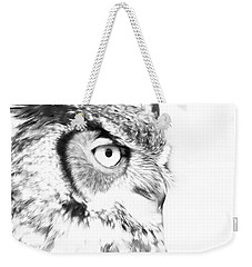 Horned Owl Pen And Ink Weekender Tote Bag