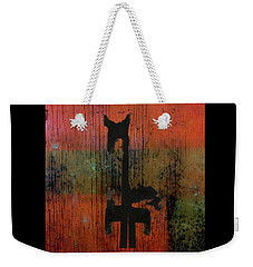 Horse And Barn Abstract  Weekender Tote Bag by Kandy Hurley