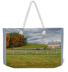Horse Barn In Ohio  Weekender Tote Bag