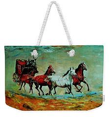 Horse Chariot Weekender Tote Bag