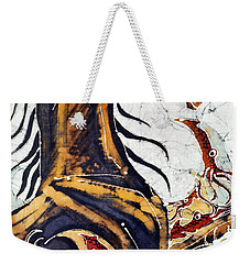 Horse Dances In Sea With Squid Weekender Tote Bag