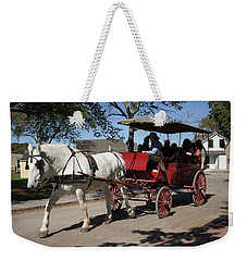 Horse Drawn Carriage In Mystic Seaport Weekender Tote Bag
