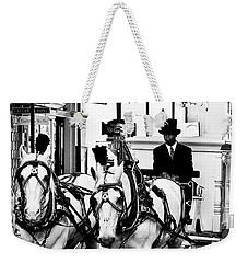 Horse Drawn Funeral Carriage Weekender Tote Bag