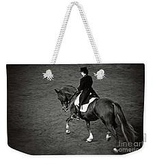Horse Dressage - Black And White Weekender Tote Bag