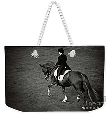 Horse Dressage - Black And White Weekender Tote Bag