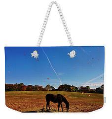 Horse Farm In The Fall Weekender Tote Bag by Ed Sweeney
