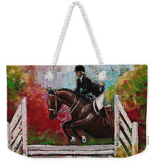 Show Jumper Equestrian Horse Wall Art  Weekender Tote Bag