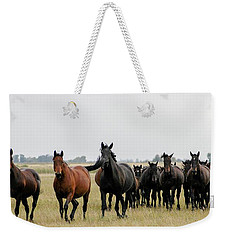 Horse Herd On The Hungarian Puszta Weekender Tote Bag