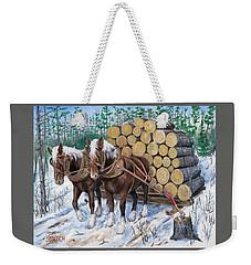 Horse Log Team Weekender Tote Bag
