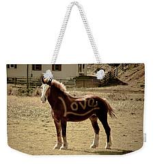 Horse Love Weekender Tote Bag by Trish Tritz