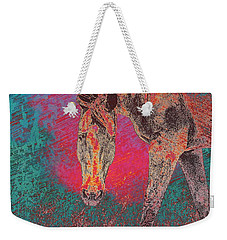 Horse Multi Color Weekender Tote Bag