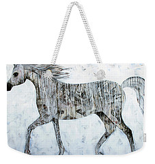 Weekender Tote Bag featuring the painting Horse Paint by Lance Headlee