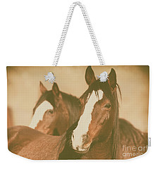 Horse Portrait Weekender Tote Bag by Ana V Ramirez