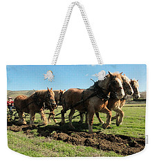 Weekender Tote Bag featuring the photograph Horse Power by Jeff Swan