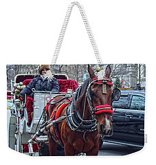 Weekender Tote Bag featuring the photograph Horse Power by Sandy Moulder