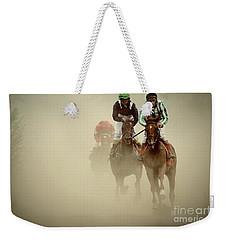 Horse Racing In Dust Weekender Tote Bag