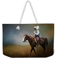 Weekender Tote Bag featuring the photograph Horse Ride At The End Of Day by David and Carol Kelly