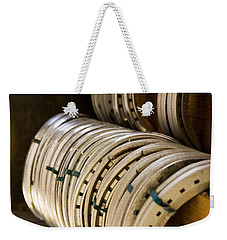 Weekender Tote Bag featuring the photograph Horse Shoes by Angela Rath