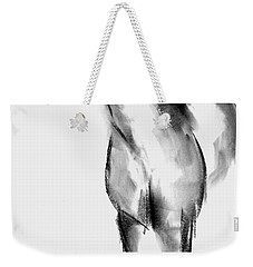 Weekender Tote Bag featuring the drawing Horse Sketch by Frances Marino