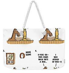Horse Talk Weekender Tote Bag